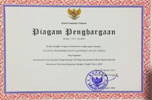 Penghargaan dari Bupati Bangka Belitung