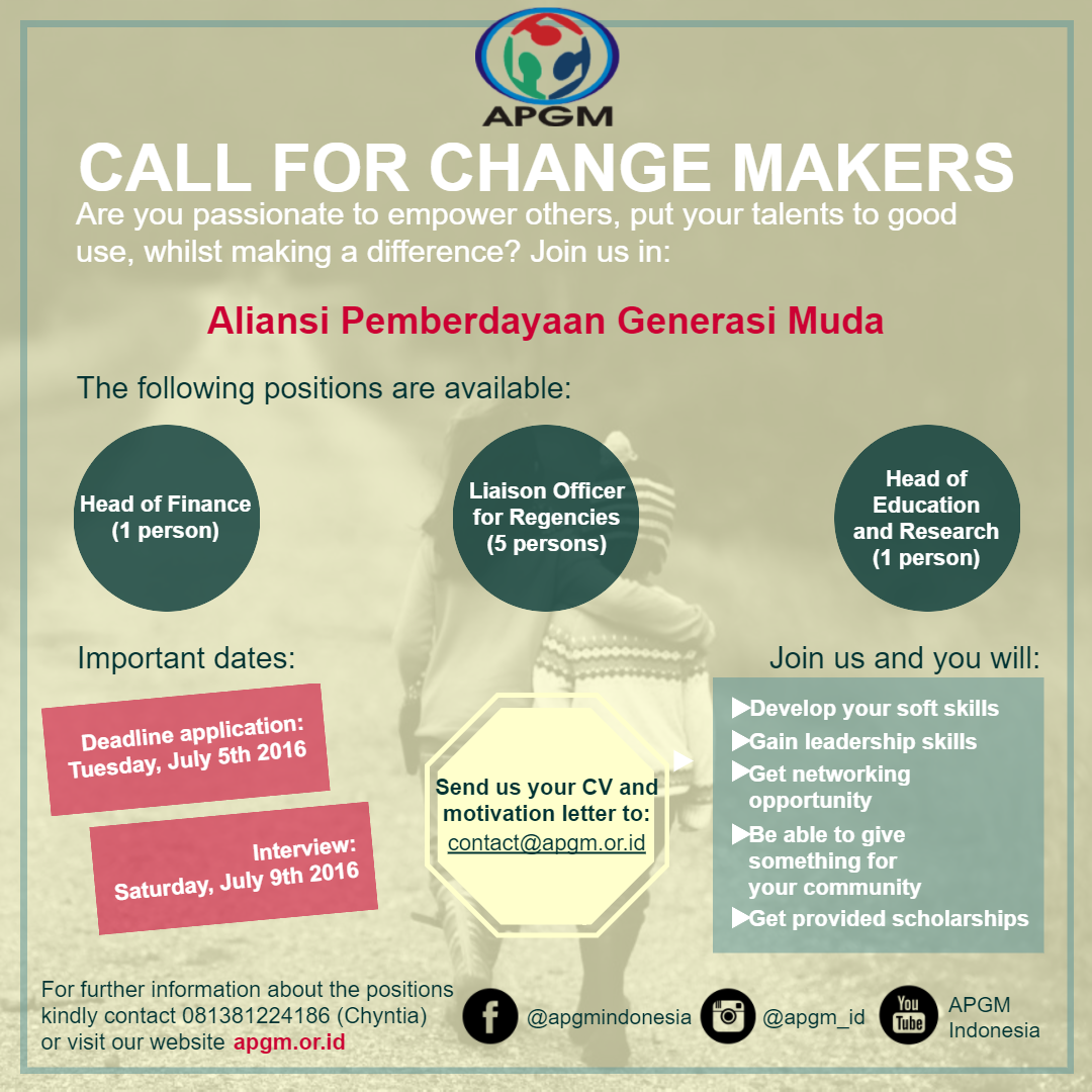 [Poster] - Call for Change Makers (Instagram & Whatsapp)