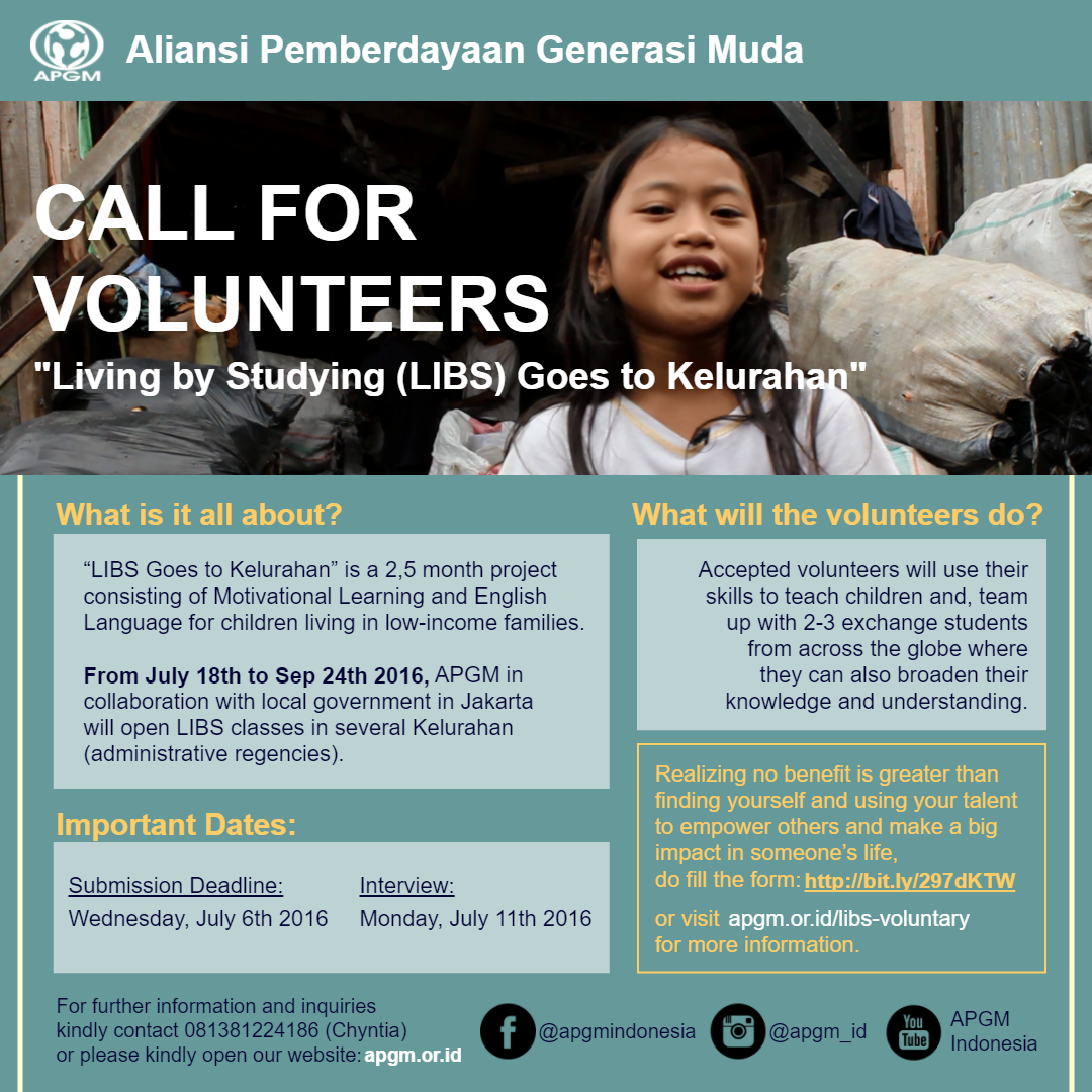 [Poster] Call for Volunteers (Instagram & Whatsapp)